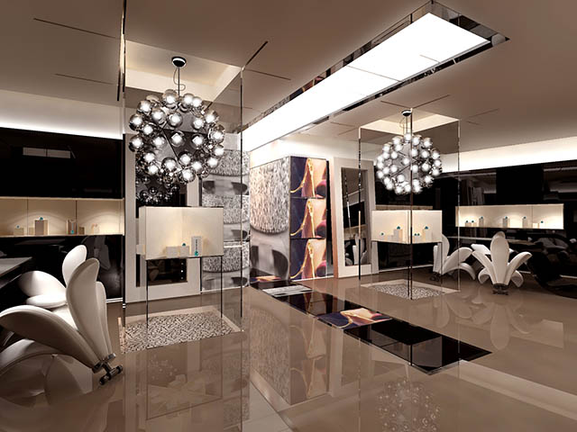 Major services for Jewellery showrooms interior designs